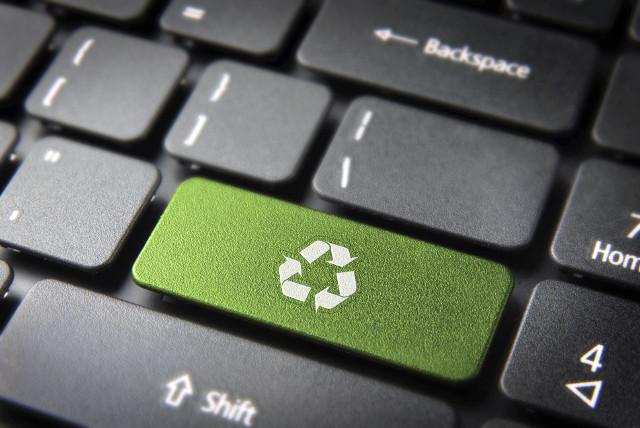 Keyboard green Eco Rigenerati